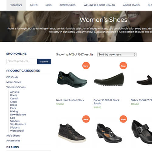 Stan's Footwear Website