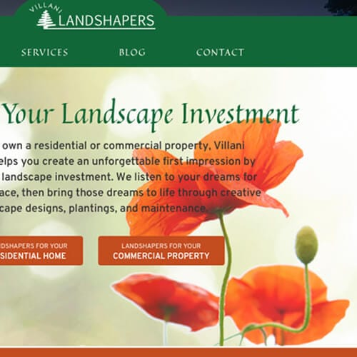 Villani Landshapers Website